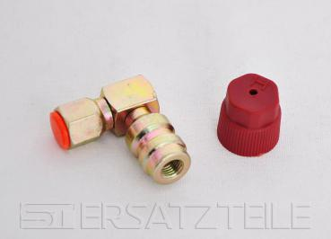 "Retro fit adapter , high pressure , 1/4"", 90°"